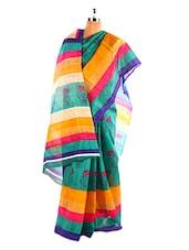 Floral Designer Printed Bhagalpuri Silk Saree With Blouse Piece - Riti Riwaz