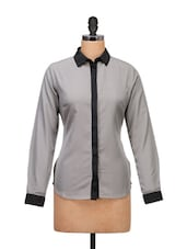 Grey And Black Formal Shirt - Meira