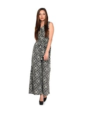 Grey And Black Printed Jumpsuit - Meira