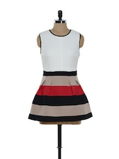 Colour Blocked Sleeveless Dress - Ozel Studio