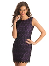 Purple And Black Lace Dress - PrettySecrets