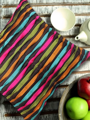 Contemporary Style Reverse Pleating Technique Multi-coloured Cushion Cover