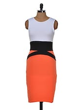 Waist Accented Pencil Midi Dress - Dress Kart