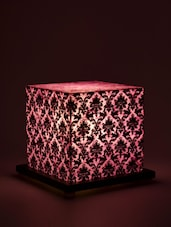 Floral Square Small Table Lamp - Shady Ideas - 909605