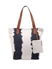 Blue And White Shaded Handbag - Phive Rivers