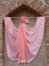 Peachy Pink Chikankari Saree - Ada