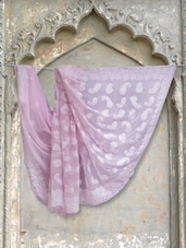 Elegant Soft Pink Chikan Saree - Ada