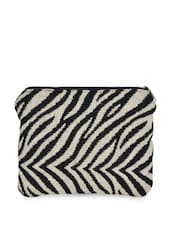 Black And White Zebra Patterned Coin Purse - Art Forte