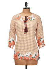Stylish Brown Casual Top - Silk Weavers