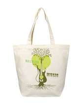 White Printed Tote Bag - YOLO - You Only Live Once