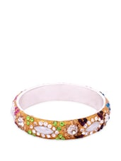 Multi-coloured 6 Piece Embellished Bangle Set - AAKSHI
