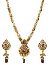 Fabulous Bridal Long Antique Necklace Set - Aaishwarya
