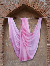 Pretty Pink Chikankari Saree - Ada