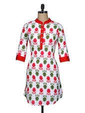 Floral Print Cotton Kurti - Free Living