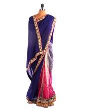 Elegant Royal Blue Saree - DLINES