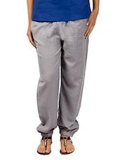 Grey Cotton Pants - URBAN RELIGION