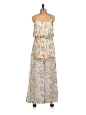 Colourful Flora Print Maxi Dress - Oxolloxo