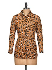 Animal Print Poly Chiffon Shirt - Oxolloxo