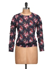 Floral Print Polyester Top - Oxolloxo