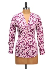 Abstract Print Pink Tone Top - Oxolloxo