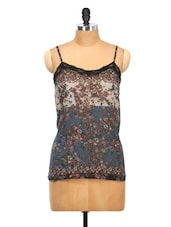 Floral Poly Georgette Cami Top - Oxolloxo