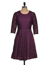 Purple Lace Evening Dress - Eavan