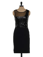 Shimmer Black Evening Dress - Eavan