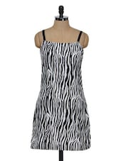 Zebra Print Polycrepe Dress - Eavan