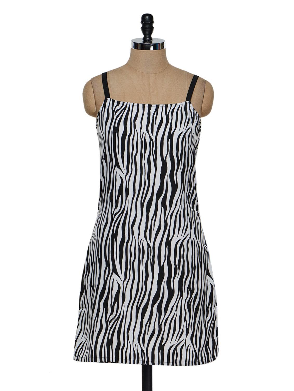 Zebra Print Polycrepe Dress - Eavan