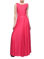 Coral Flare Maxi Dress -  online shopping for Dresses