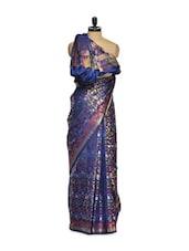 Blue Cotton Silk Saree - Bunkar