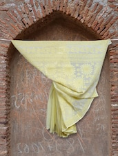Lemon Yellow Embroidered Saree - Ada