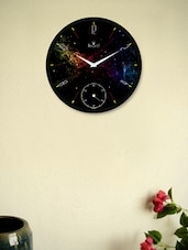Unique Black Wall Clock With Abstract Pattern - Regent