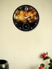 Black Wall Clock With Wow Yellow Bubbles - Regent