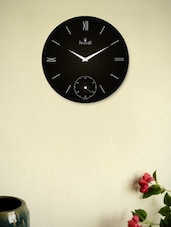 Black Wall Clock With Golden Polka Dots - Regent