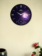 Dreamy Black Wall Clock With Glowing Spherical Ball - Regent