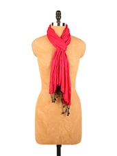 Amazing Pink Plain Scarf - Addons