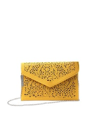 Yellow Cutwork Sling Bag - Miss Chase
