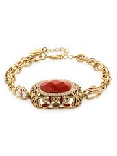 Red Stone Studded Bracelet - Voylla