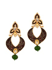 Traditional Meenakari Embellished Earrings With Gold Plating - Voylla