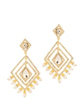 Shinning Earrings With Pearls - Voylla