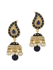 Paisley Design Gold Plated Earrings - Voylla
