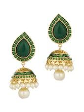 Gold Plated Jhumki Drop Earrings - Voylla