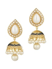 Gold Plated Drop Style Earrings - Voylla