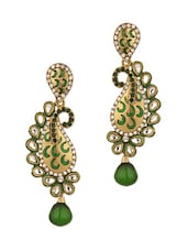 Gold Plated Crescent Shape Earrings - Voylla