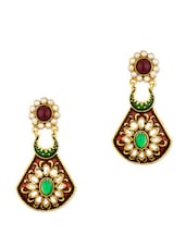 Yellow Gold Plated Traditional Earrings - Voylla