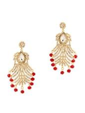 Queenly Look Red Stones Earring - Voylla