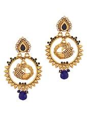 Charming Peacock Dangler Earrings - Voylla