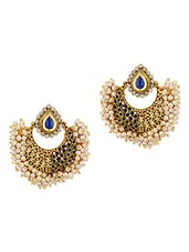 Exquisite Cluster Of Beads Earrings - Voylla