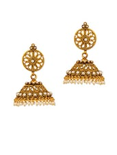 Dazzling  Earrings With Jali Work And Pearl Tassels - Voylla